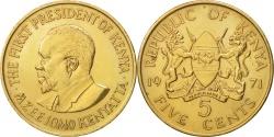 World Coins - Kenya, 5 Cents, 1971, , Nickel-brass, KM:10