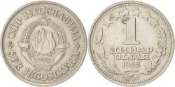 World Coins - YUGOSLAVIA, Dinar, 1968, KM #48, , Copper-Nickel, 21.8, 3.82