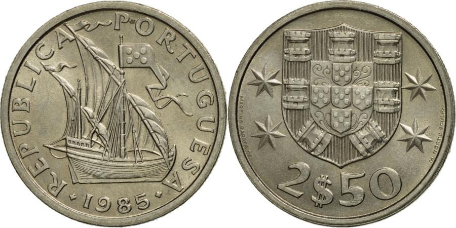 World Coins - Portugal, 2-1/2 Escudos, 1985, , Copper-nickel, KM:590