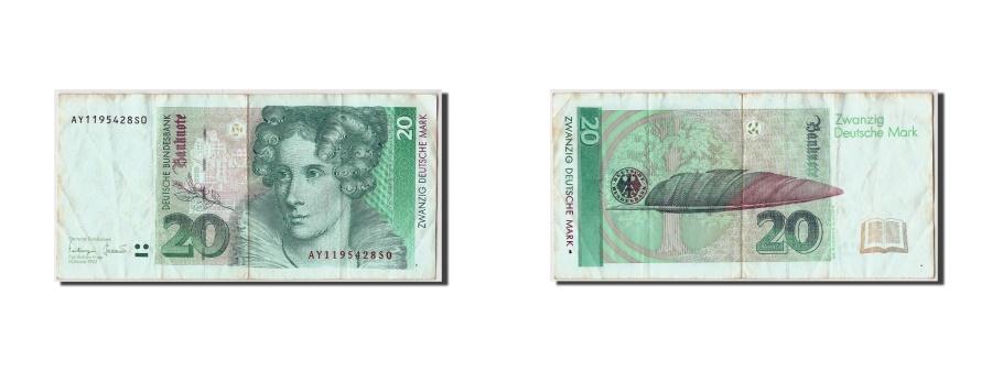 World Coins - GERMANY - FEDERAL REPUBLIC, 20 Deutsche Mark, 1993, KM:39b, 1993-10-01, EF(40...