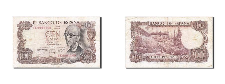 World Coins - Spain, 100 Pesetas, 1970-1971, KM:152a, 1970-11-17, VF(30-35)