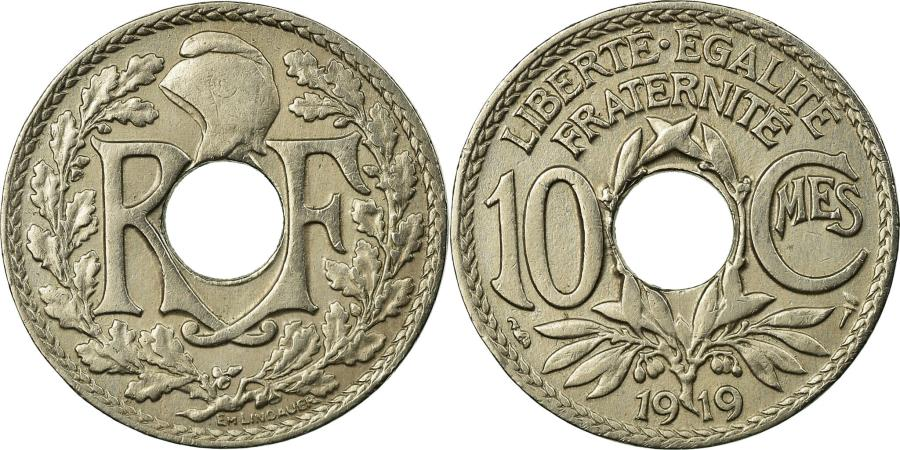 World Coins - Coin, France, Lindauer, 10 Centimes, 1919, , Copper-nickel, KM:866a