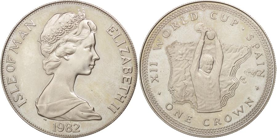 World Coins - Isle of Man, Elizabeth II, Crown, 1982, Pobjoy Mint, , Copper-nickel
