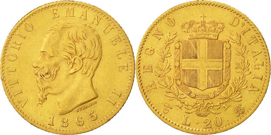 Italy vittorio emanuele ii 20 lire 1865 torino ef 40 for Coin torino