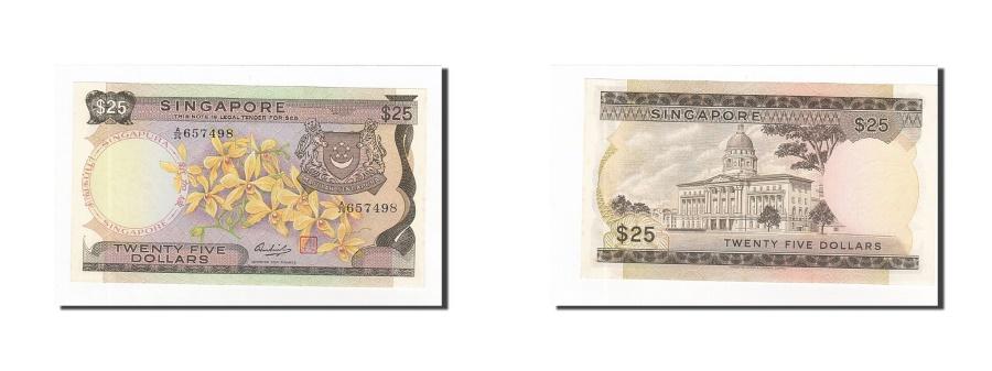World Coins - Singapore, 25 Dollars, 1967-73, KM:4, UNC(63)
