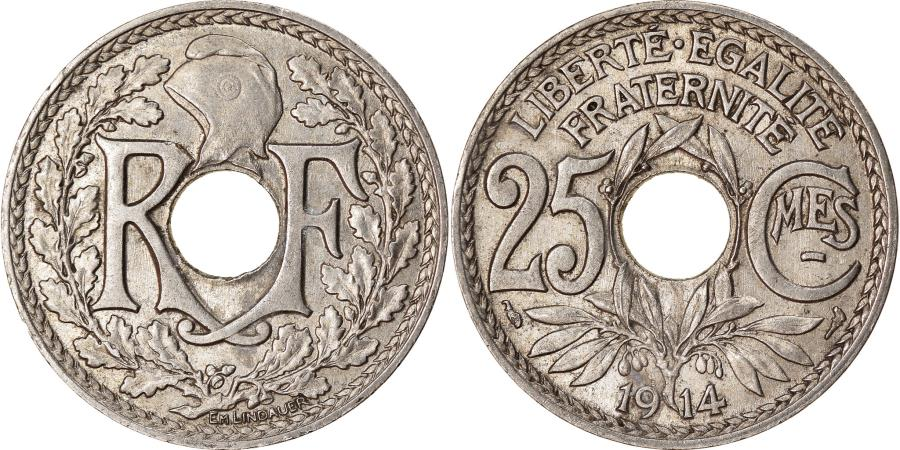 World Coins - Coin, France, Lindauer, 25 Centimes, 1914, , Nickel, KM:867