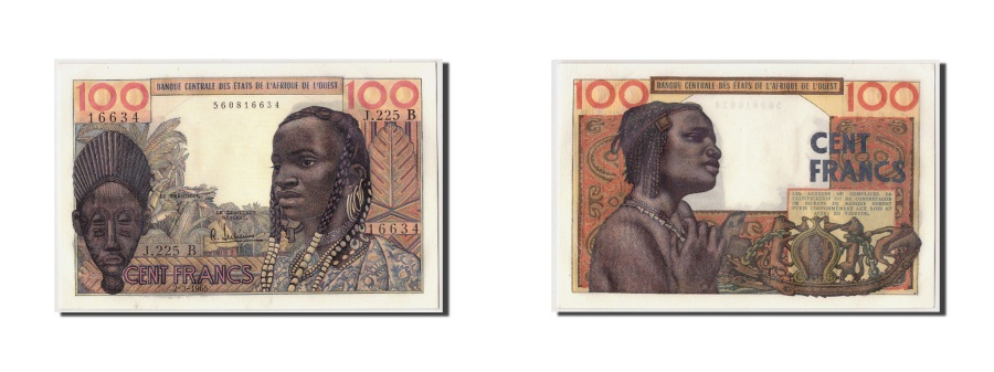 World Coins - West African States, Benin, 100 Francs, 1965, KM:201Be, 1965-03-02, UNC(63)