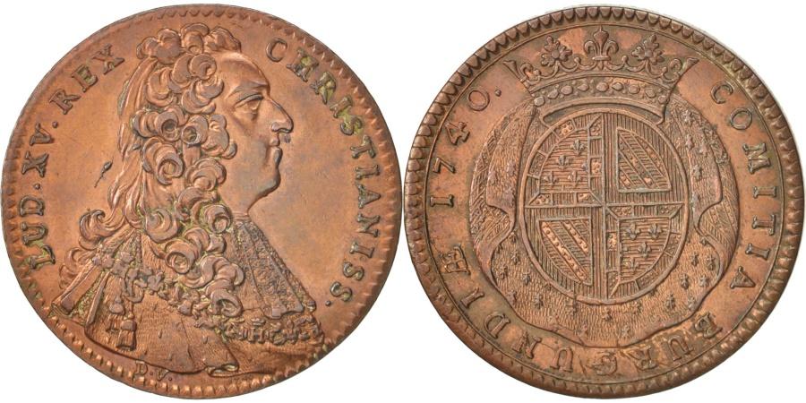 World Coins - France, Token, Etats de Bourgogne, Louis XV, 1740, , Copper