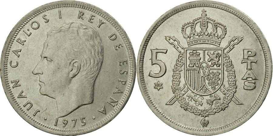 World Coins - Coin, Spain, Juan Carlos I, 5 Pesetas, 1980, , Copper-nickel, KM:811