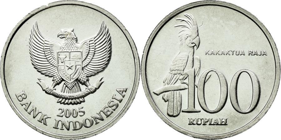 Coin, Indonesia, 100 Rupiah, 2005, MS(63), Aluminum, KM:61