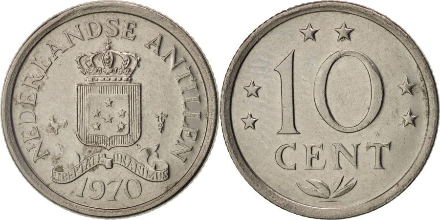 World Coins - Netherlands Antilles, Juliana, 10 Cents, 1970, , Nickel, KM:10