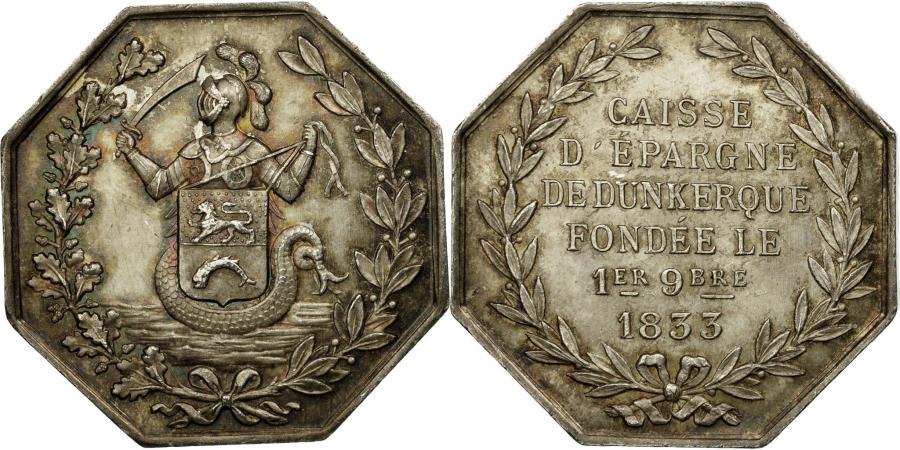 World Coins - France, Token, Banques, Caisse d'Epargne de Dunkerque, , Silver