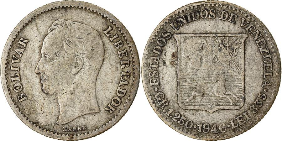 World Coins - Coin, Venezuela, 25 Centimos, 1946, , Silver, KM:20