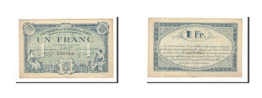 World Coins - France, Albi, 1 Franc, 1917, EF(40-45), Pirot:5-13