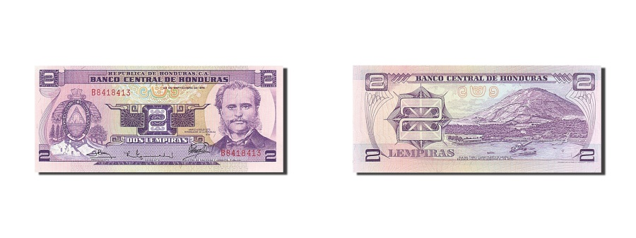 World Coins - Honduras, 2 Lempiras, 1976, KM #61, 1976-09-23, UNC(65-70), B8418413