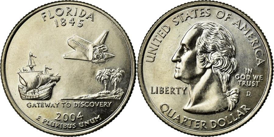 US Coins - Coin, United States, Quarter, 2004, U.S. Mint, Denver, EF(40-45), Copper-Nickel