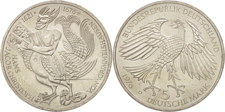 World Coins - GERMANY - FEDERAL REPUBLIC, 5 Mark, 1976, Munich, Germany, , KM:144
