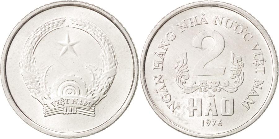 World Coins - Vietnam, SOCIALIST REPUBLIC, 2 Hao, 1976, , Aluminum, KM:12