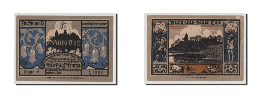 World Coins - Germany, Oberschlesien, 50 Pfennig, UNC(65-70), Kono E 42090, Mehl #437.1a