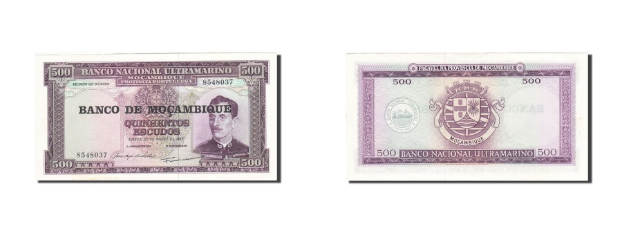 World Coins - Mozambique, 500 Escudos, 1976, KM:118a, 1967-03-22, AU(55-58)