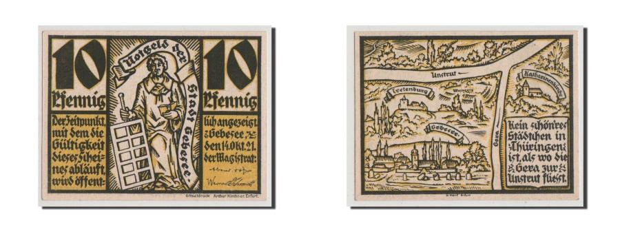 World Coins - Germany, Provinz Sachsen, Thüringischer Teil, 10 Pfennig, 1921, UNC(64), Mehl...
