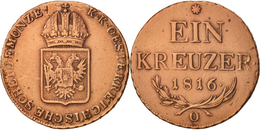 World Coins - Austria, Franz II (I), Kreuzer, 1816, , Copper, KM:2113
