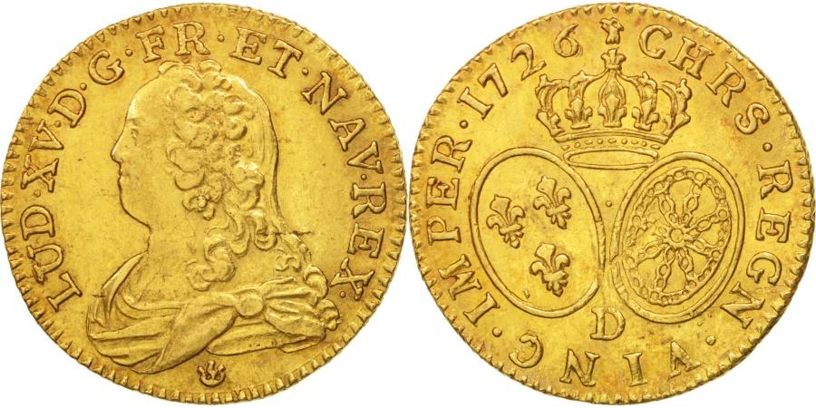 World Coins - France, Louis XV, Louis d'or aux lunettes, 1726, Lyon, , KM:489.6