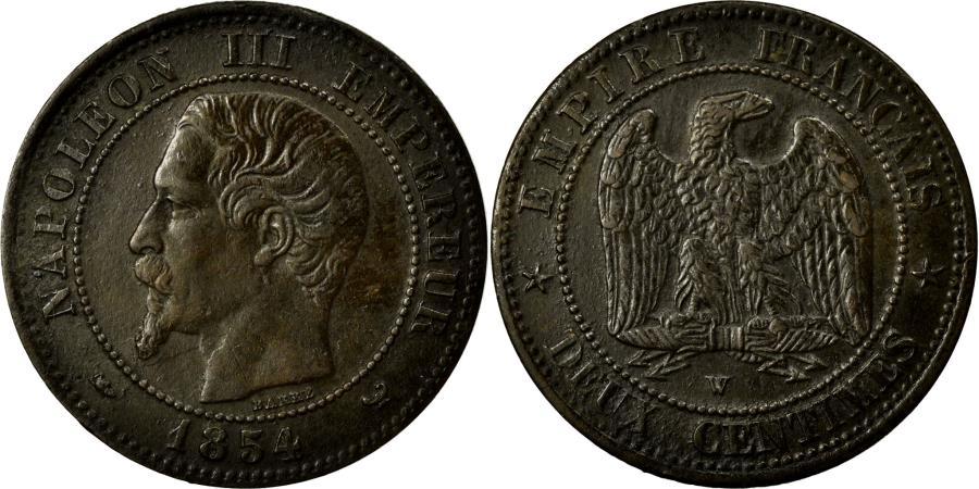 World Coins - Coin, France, Napoleon III, Napoléon III, 2 Centimes, 1854, Lille, AU(50-53)