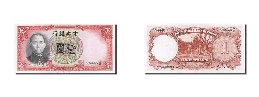 World Coins - China, 1 Yüan, 1936, KM #212c, UNC(63), 594446V/D