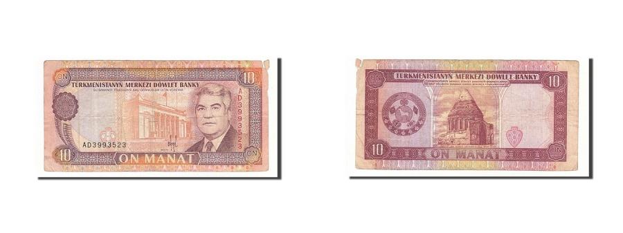 World Coins - Turkmenistan, 10 Manat, 1993, KM #3, F(12-15), AD3993523