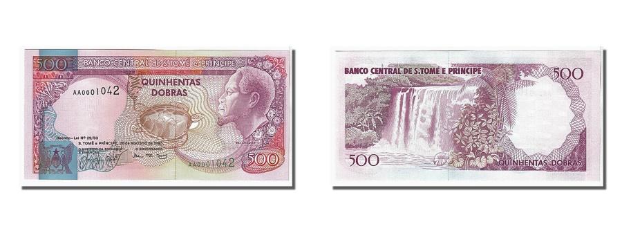 World Coins - Saint Thomas and Prince, 500 Dobras, 1993, KM #63, UNC(65-70), AA0001042