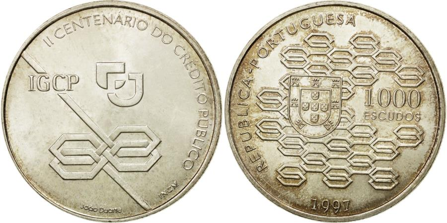 World Coins - Coin, Portugal, 1000 Escudos, 1997, Lisbon, , Silver, KM:703