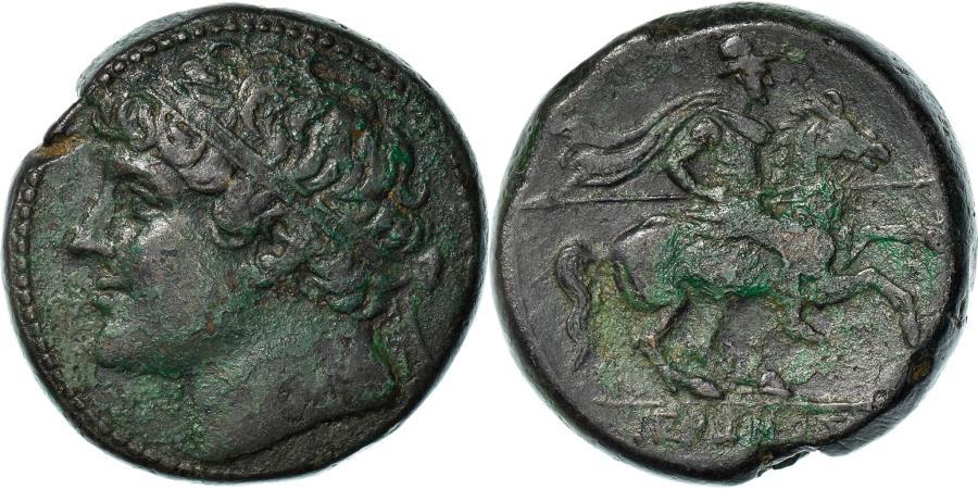 Ancient Coins - Coin, Sicily, Hieron II, Bronze Æ, 230-215 BC, Syracuse, , Bronze