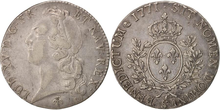 World Coins - France, Louis XV, Écu au bandeau, 1771, Reims, , Silver, unpublished