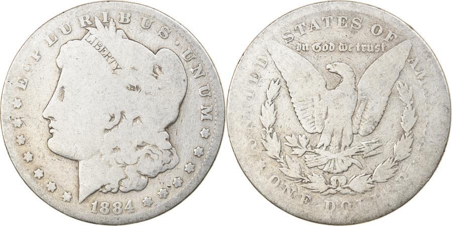 US Coins - Coin, United States, Morgan Dollar, Dollar, 1884, U.S. Mint, Philadelphia