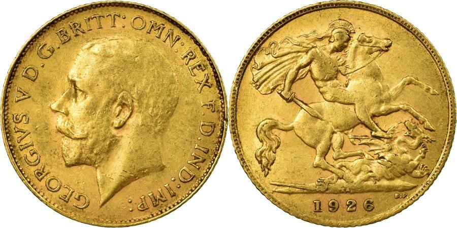 World Coins - Coin, South Africa, George V, 1/2 Sovereign, 1926, Pretoria, , Gold