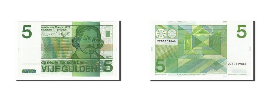 World Coins - Netherlands, 5 Gulden, 1973, KM #95a, 1973-03-28, UNC(60-62), 2280109860