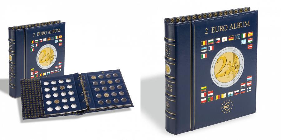World Coins - Album Numismatique VISTA pour 2 euro, Leuchtturm:341017