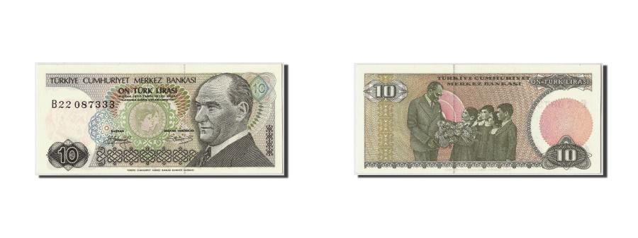World Coins - Turkey 10 Lira L.1970 (1979) KM:192  UNC(65-70) B22 087333