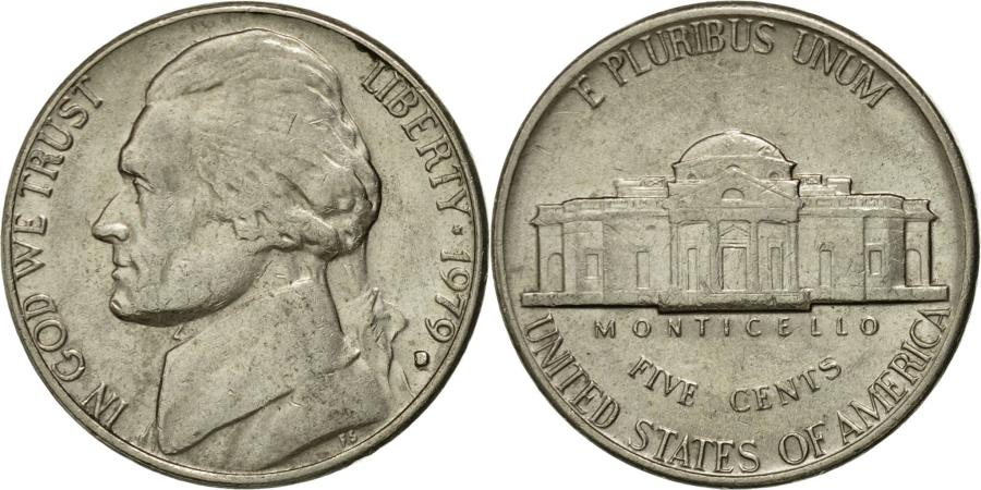 US Coins - Coin, United States, Jefferson Nickel, 5 Cents, 1979, U.S. Mint, Denver