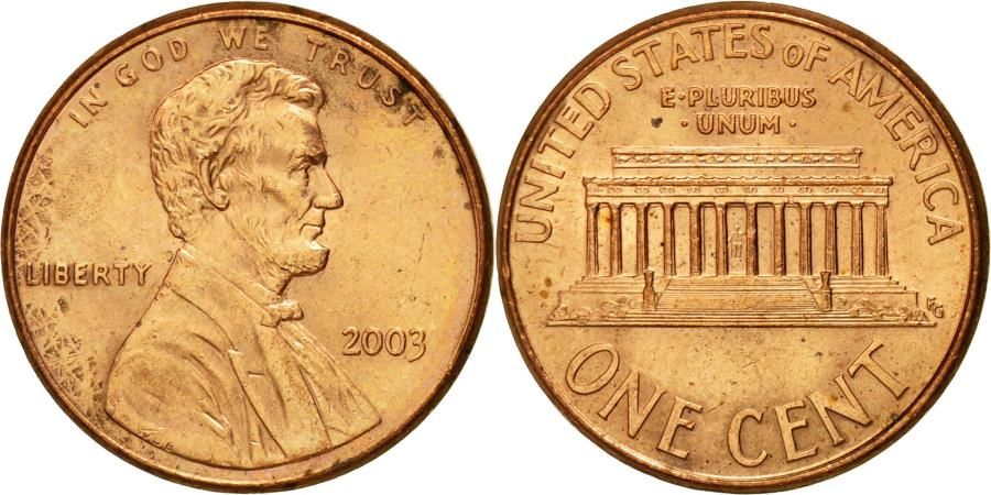 US Coins - Coin, United States, Lincoln Cent, Cent, 2003, U.S. Mint, Philadelphia
