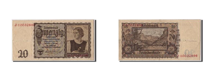 World Coins - Germany, 20 Reichsmark, 1939, KM:185, 1939-06-16, VF(30-35)