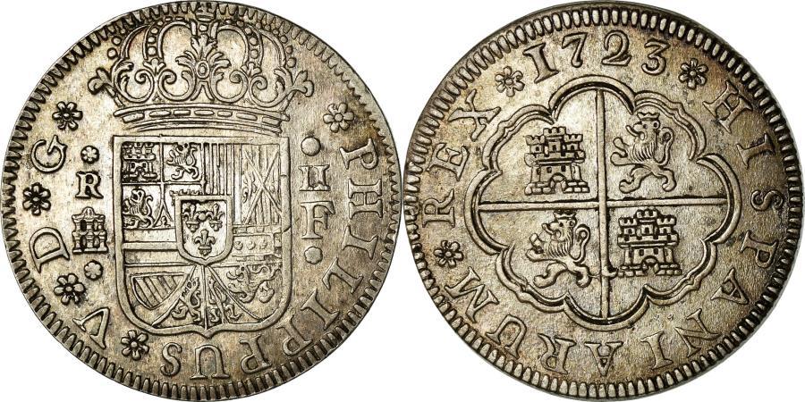 World Coins - Coin, Spain, Philip V, 2 Reales, 1723, Segovia, , Silver, KM:297