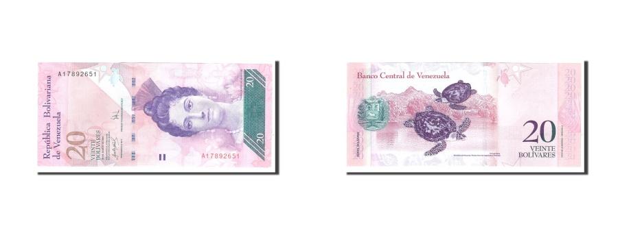 World Coins - Venezuela, 20 Bolivares, 2007, 2007-03-20, KM:91a, UNC(65-70)