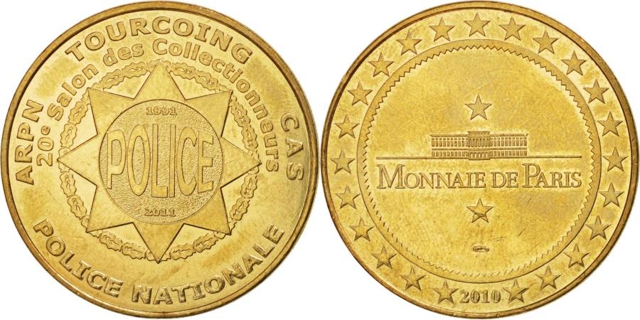 World Coins - France, Tourist Token, 59/ Police Nationale - Tourcoing, 2010, Monnaie de Paris