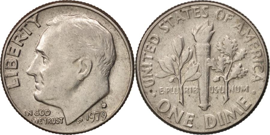 US Coins - United States, Roosevelt Dime, Dime, 1979, U.S. Mint, Denver,