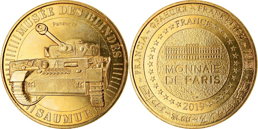World Coins - France, Token, Saumur - Musée des Blindés, 2019, MDP, , Cupro-nickel