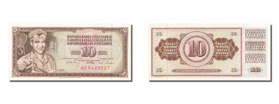 World Coins - Yugoslavia, 10 Dinara, 1968, KM #82c, 1968-05-01, UNC(65-70), A.06429227