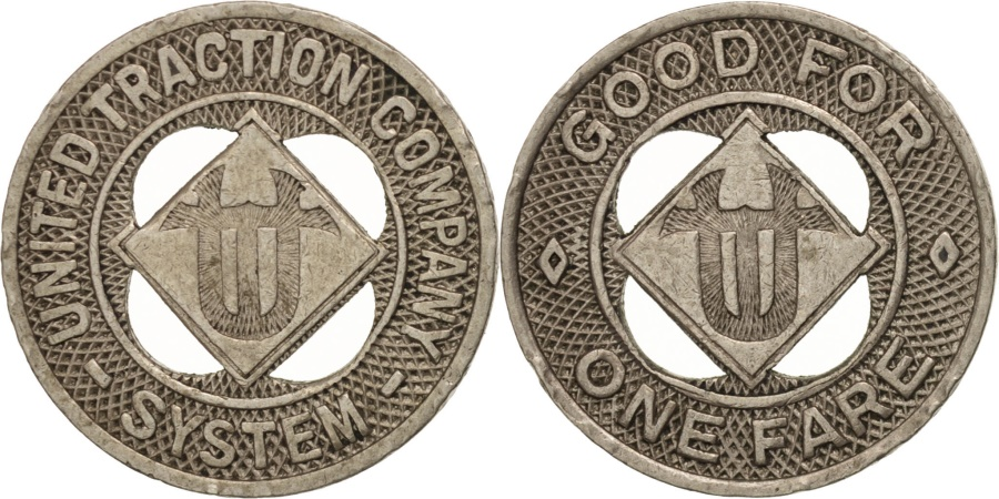 US Coins - United States, Token, United Traction Company System