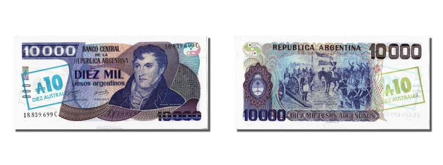 World Coins - Argentina, 10 Australes, KM #322c, UNC(65-70), 18.839.699C